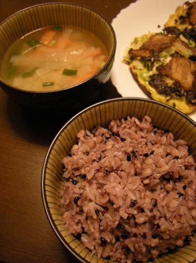 味噌汁&黒米ご飯.jpg